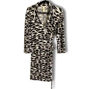 LAUNDRY by Design GEOMETRIC PRINT WRAP DRESS SZ XL